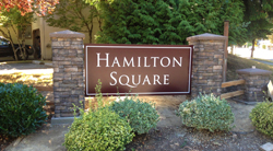 Hamilton Square HOA Monument Sign